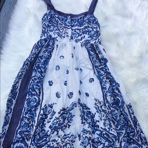💖Anthropologie💖Maeve💖Catmint Blu Floral Dress 2